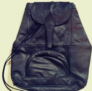 """1 Day Sale Leather Backpack, Tote, Black, 14""""x15"""""""